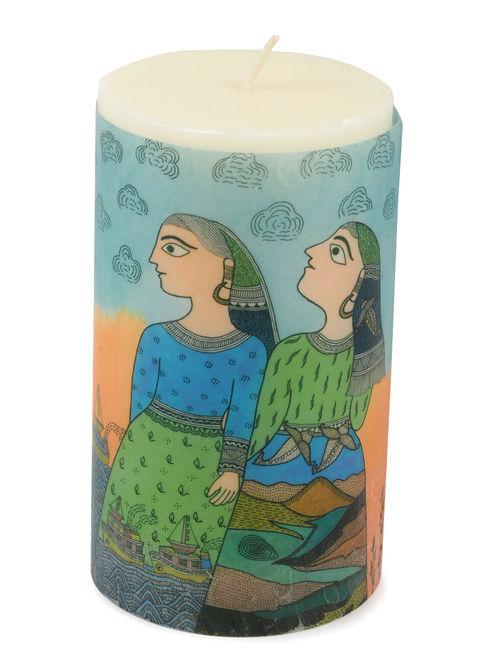 Amita Madhubani Aromatic Art Candle-Mahi