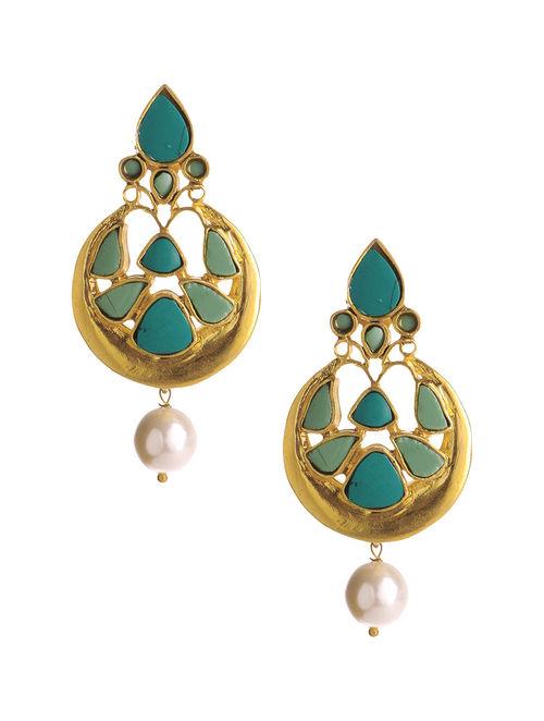 Emerald Pearl Earrings