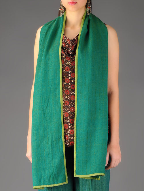 Green Handwoven Merino Wool Stole
