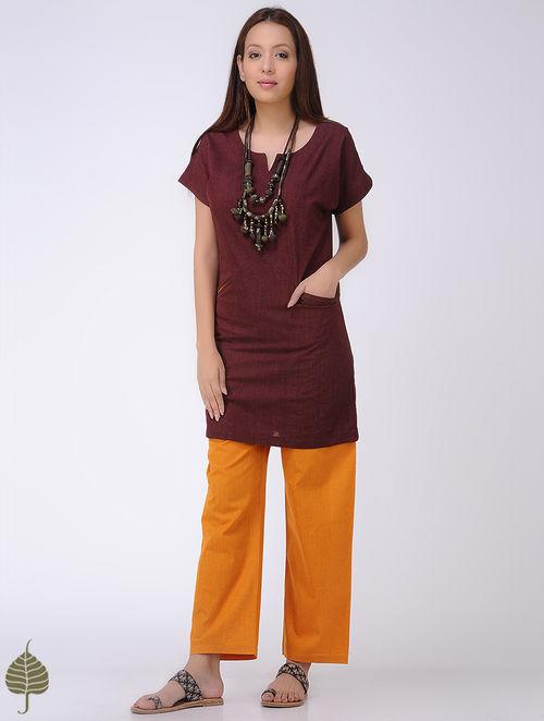 Maroon Mangalgiri Cotton Tunic by Jaypore