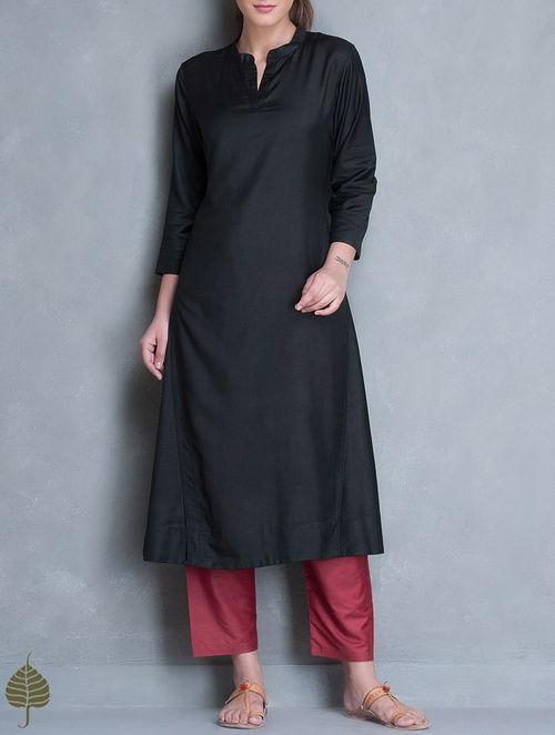 Buy Black Silk Cotton Kurta By Jaypore Online At Jaypore Com