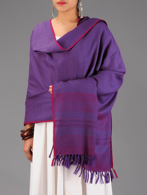 Purple-Fuschia Wool Shawl