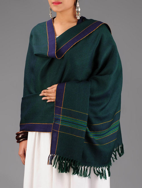Green-Blue Wool Shawl