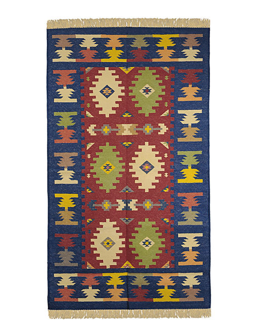 Multi-Color Cotton Punja Durrie 60in x 36in