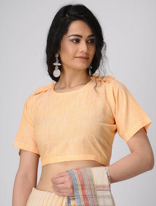 b0742c8f339a04 Buy Yellow Handloom Cotton Blouse Online at Jaypore.com