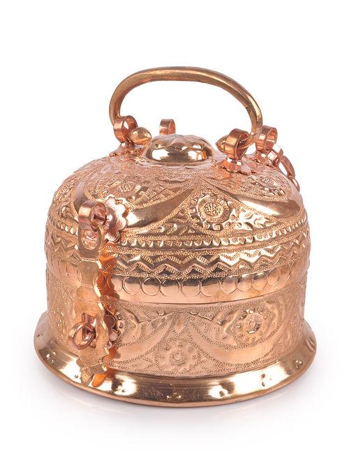 Buy Copper Nakshi Paan Daan Medium Online At Jaypore Com