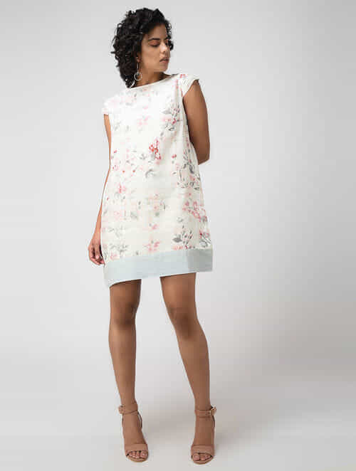 abfad7af9ea Buy White Linen Dress Online at Jaypore.com