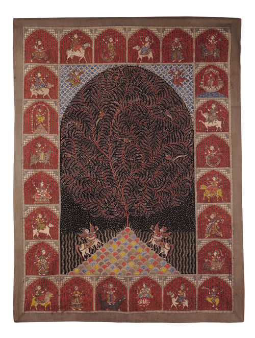 Buy Multi Color Mata Ni Pachedi 51in x 385in Online at  : mnparj000019421 14 from www.jaypore.com size 500 x 662 jpeg 114kB