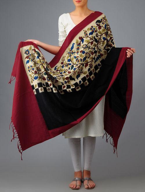 Buy Kalamkari Ikat Cotton Dupatta Online At Jaypore Com