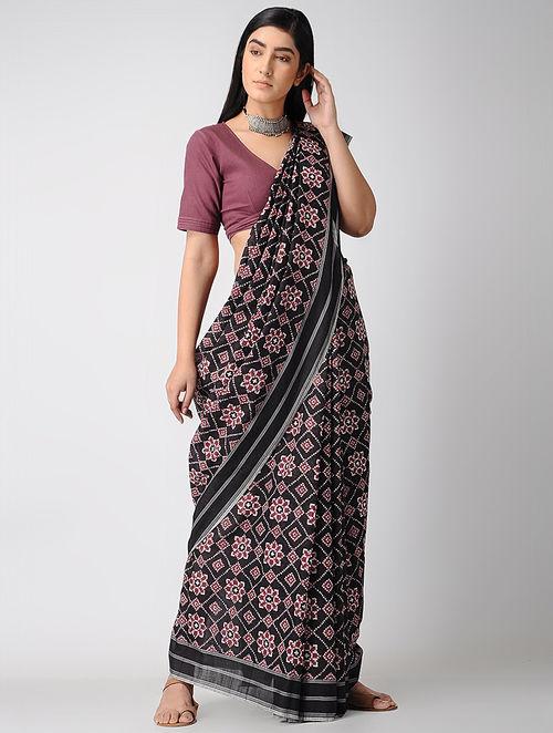 Buy Black Red Telia Rumal Cotton Saree Online At Jaypore Com
