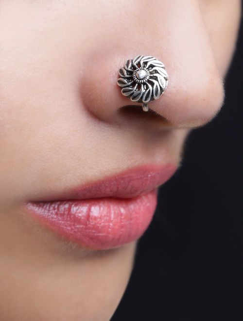 Buy Floret Nose Pin Online at Jaypore.com