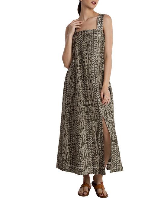 bf8cbd75f89 Buy Black-White Linen Dress Online at Jaypore.com