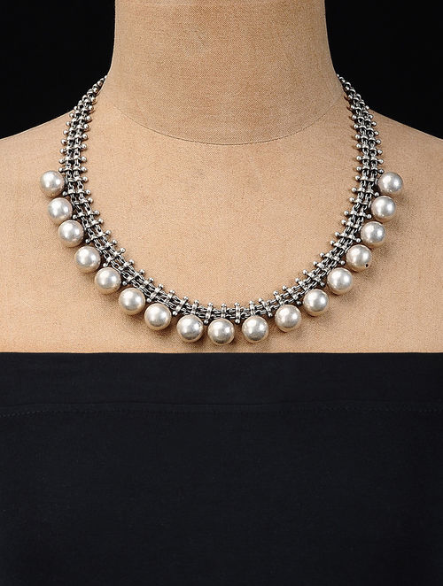 Buy Classic Silver Necklace Online At Jaypore Com