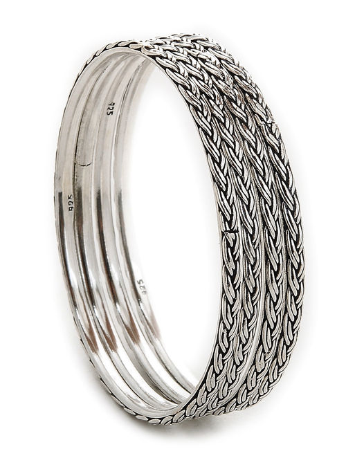 silver hand reilly sterling bangles forged metalsmith jewellery custom jewelry heather