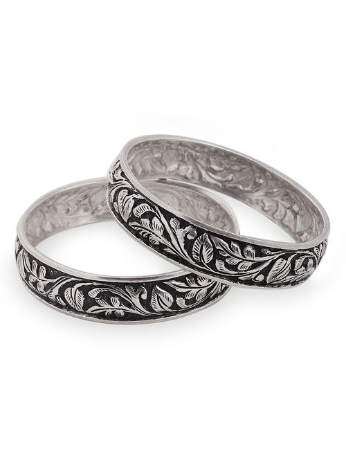 shape fine bangles virtual sterling silver work a plain jewellery elephant oxidized