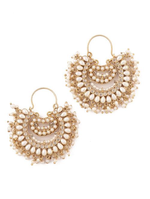 Buy Pearl Jhumka Earrings Online At Jaypore Com