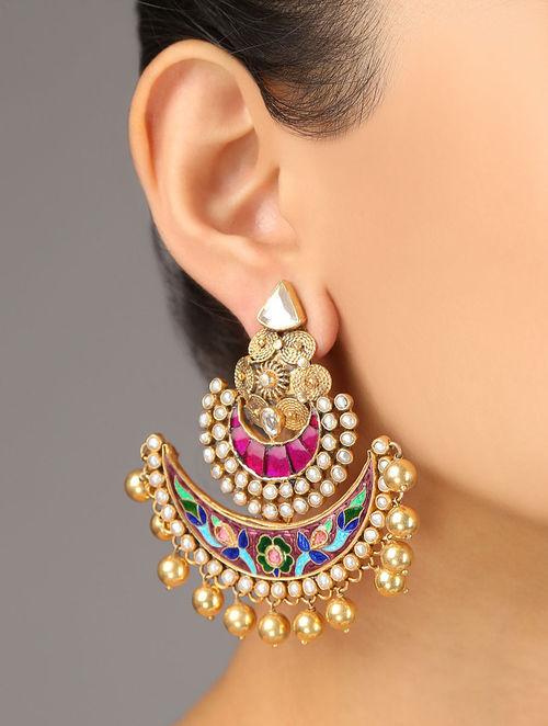 Buy Festive Meenakari Earrings Online At Jaypore Com
