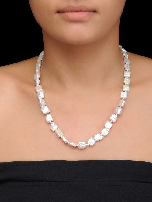 Buy Baroque Pearl Beaded Necklace Online at Jayporecom : peajwj000166772 12 from www.jaypore.com size 500 x 662 jpeg 34kB