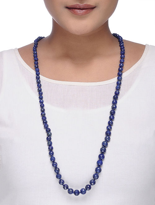 blue lapis buy online necklace at beaded lazuli com jaypore