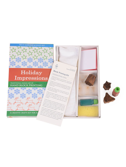 Buy Diy Indian Craft Kit Hand Block Printing Holiday Impressions