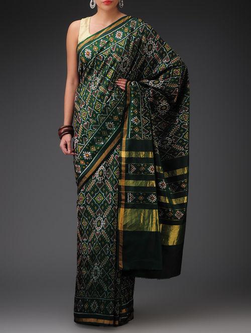 Buy Green Single Ikat Patola Silk Saree Online At Jaypore Com