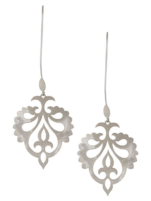 Mughal Jali Silver Earrings