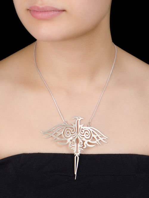 Phoneix Bird Silver Pendant Silver Necklace