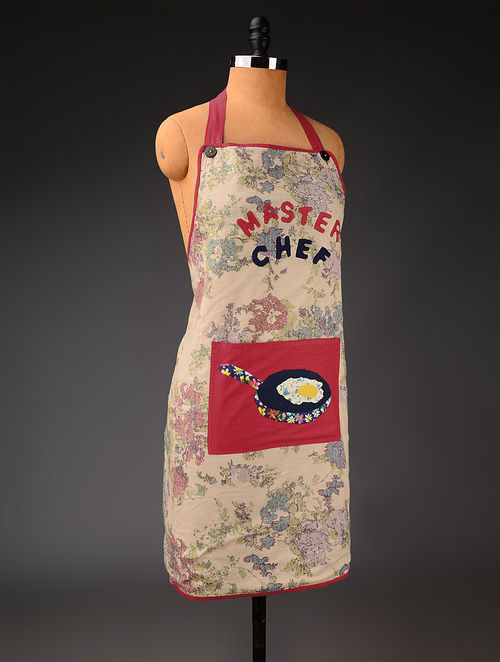 Multicolor Master Chef Straight Apron 31in x  26.5in