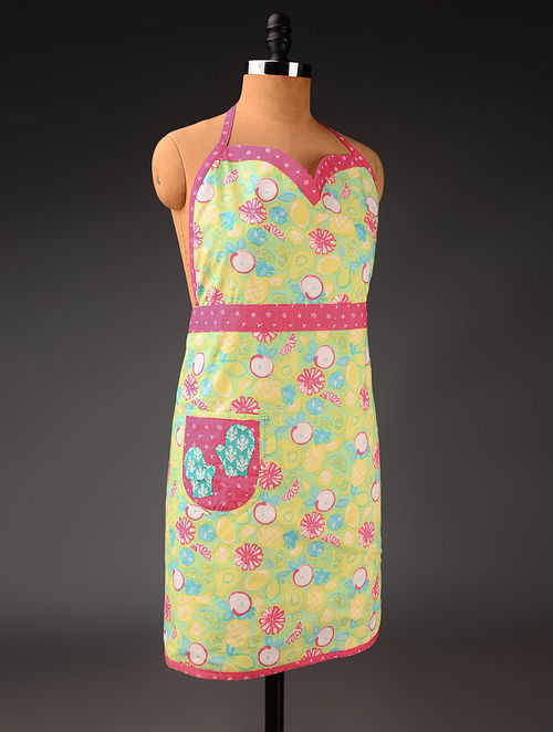 Multicolor Floral A-Line Apron 31in x  41in