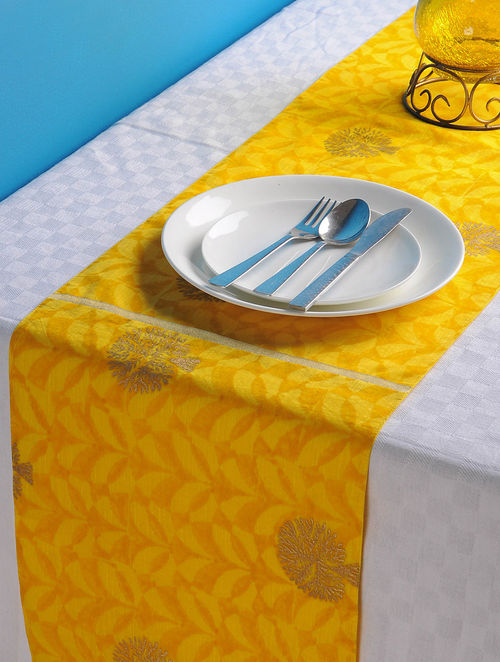 Yellow-Golden Tree Table Runner 72in x 13in