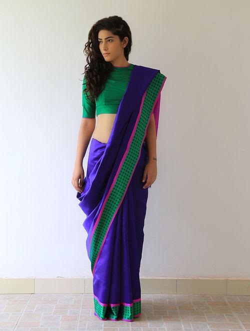 Buy Blue Mehjabeen Silk Saree By Raw Mango Online At