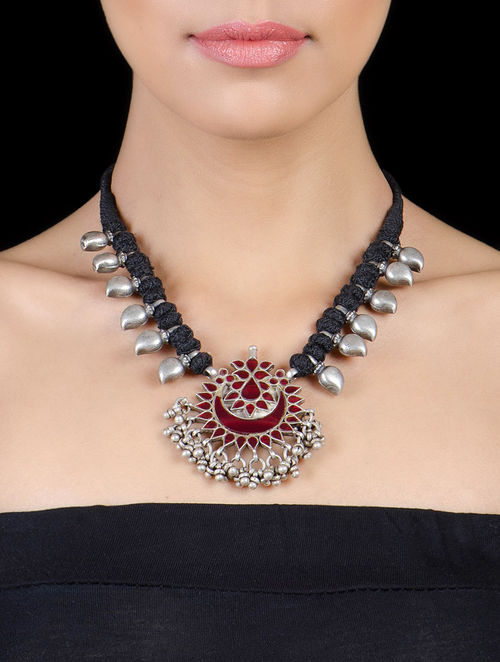 Buy Tribal Silver Necklace By Shree Jewellers Online At