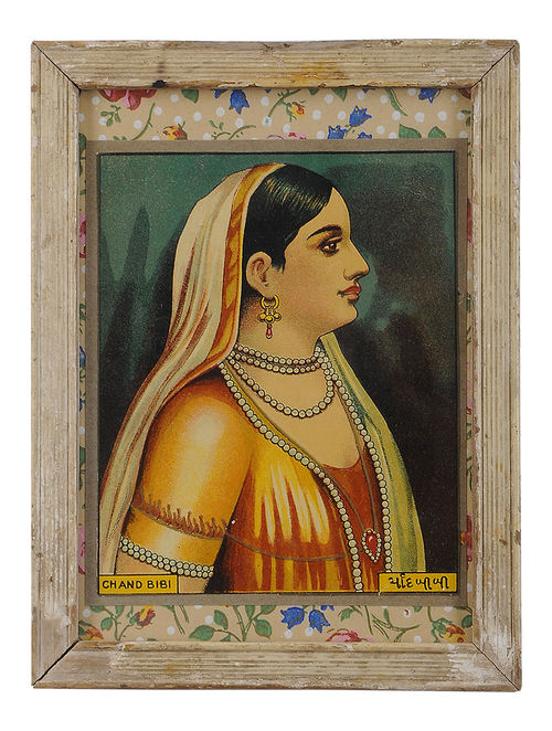Buy Chand Bibi Vintage Framed Textile Label Online At
