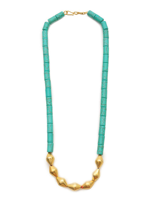 Buy Turquoise Gold Plated Silver Necklace Online At