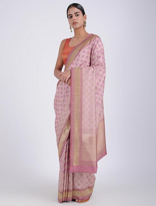 52b181bc23 Buy Purple Benarasi Georgette Saree Online at Jaypore.com