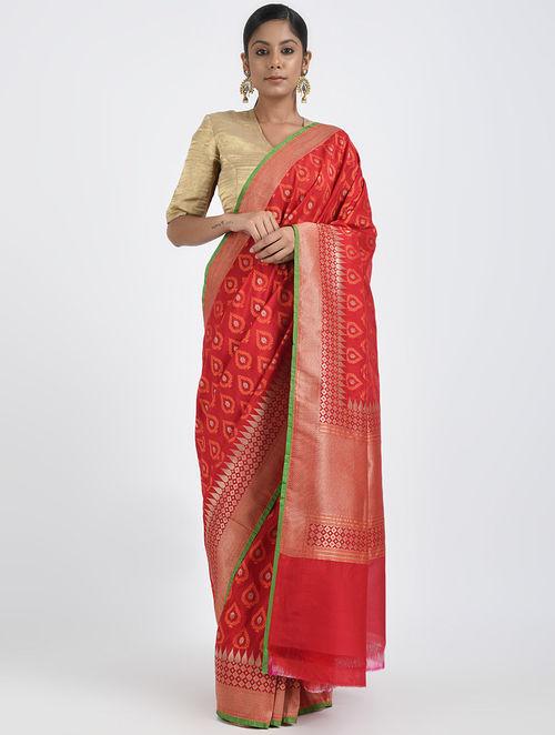 cd2175f028 Buy Pink Benarasi Georgette Saree Online at Jaypore.com