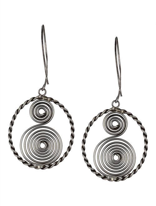 Buy Pair Of Psychedelic Silver Earrings Online At Jaypore Com