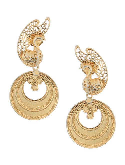 silver htm lace plated gold g p earrings