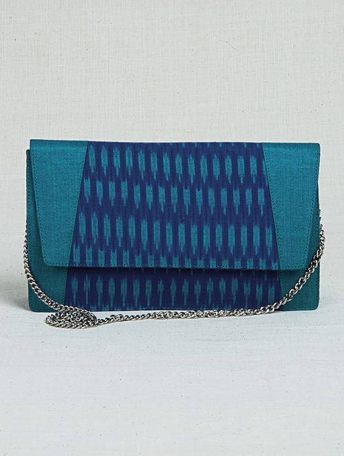 148cc9ff8ab Buy Turquoise-Blue Ikat Metal Chain Sling Bag Online at Jaypore.com
