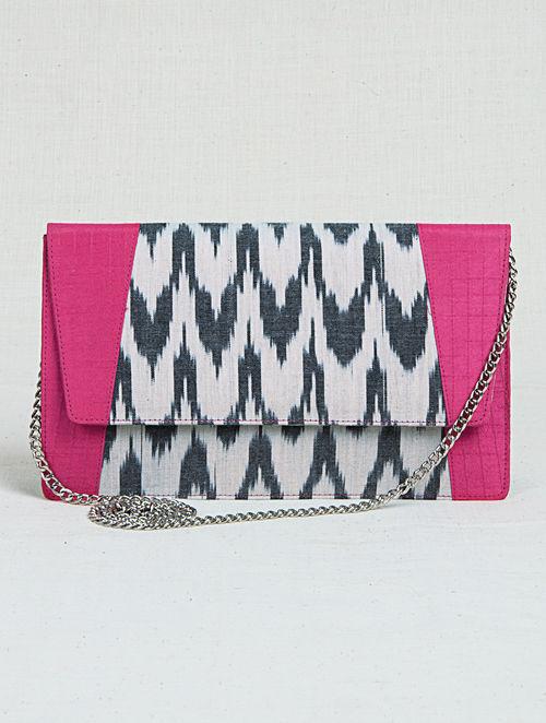 230d0b66c11 Buy Black-Pink Ikat Metal Chain Sling Bag Online at Jaypore.com