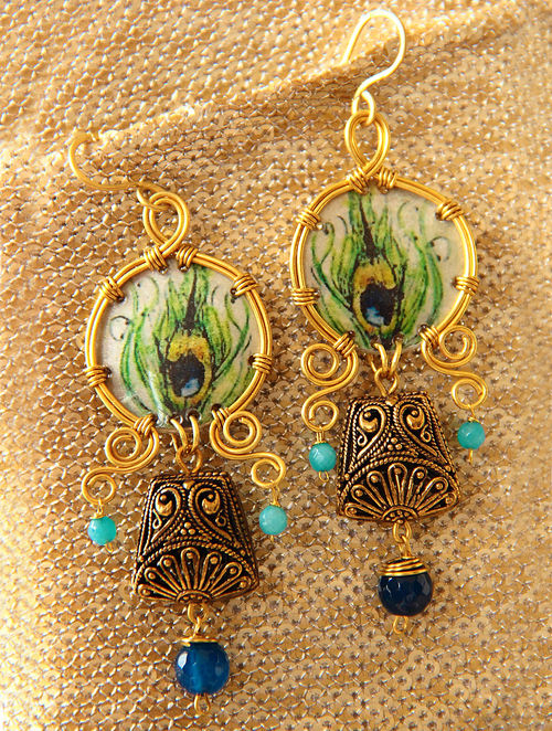 Buy Pair Of Mor Pankh Earrings Online At Jaypore Com