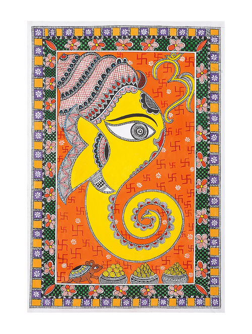 Buy Ganesha Madhubani Painting 22in X 15in Online At