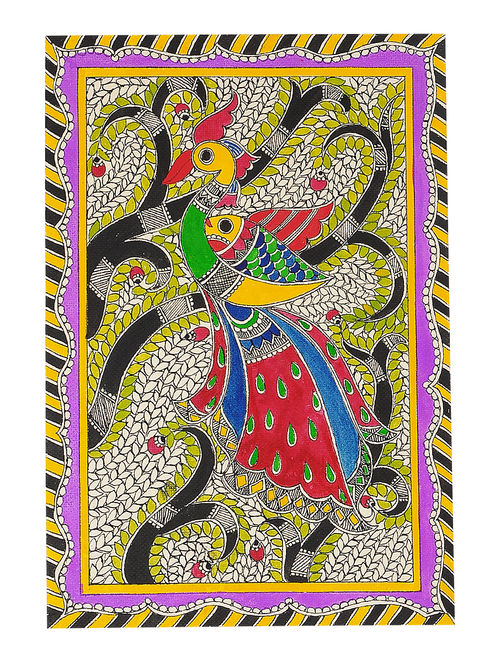 Buy Peacock Madhubani Painting 11in X 7 6in Online At