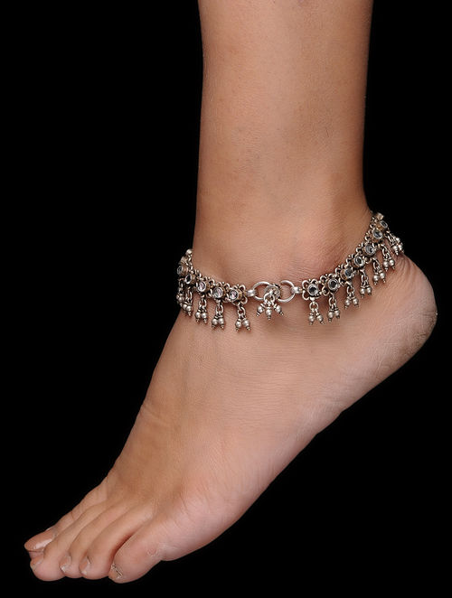 bells bracelet chain jingle anklets s childrens silver anklet solid children ankle kids o