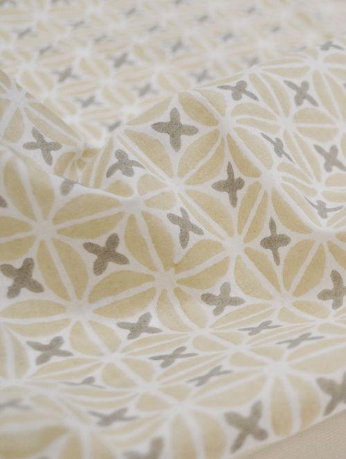 Straw Cotton Petal Design Fabric by YAMINI