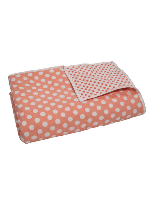 Double Sided Polka Dots Printed Quilt