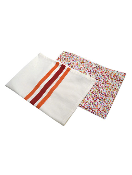 Printed & Plain Kitchen Towels-Set of 2 29in x 20.5in
