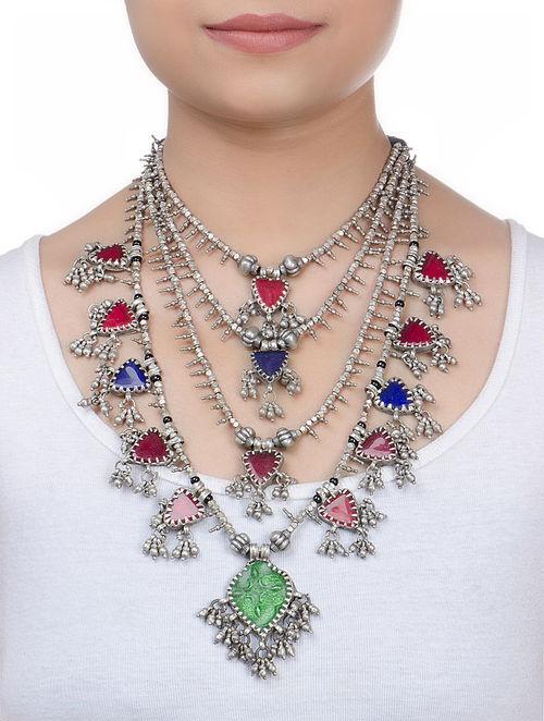 Buy Tabiz Silver Necklace Online At Jaypore Com
