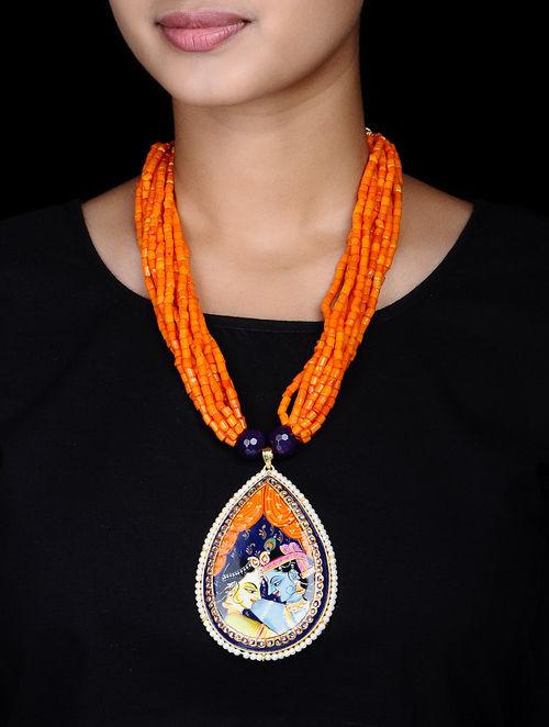 Buy kundan work hand painted radha krishna tanjore pendant necklace kundan work hand painted radha krishna tanjore pendant necklace aloadofball Choice Image
