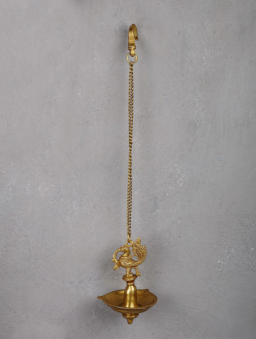 Buy Brass Hanging Diya With Bird Motif Online At Jaypore Com